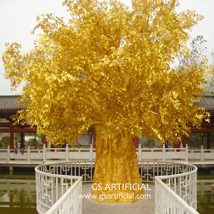 5m Artificial Gold leaf Banyan tree large ficus tree