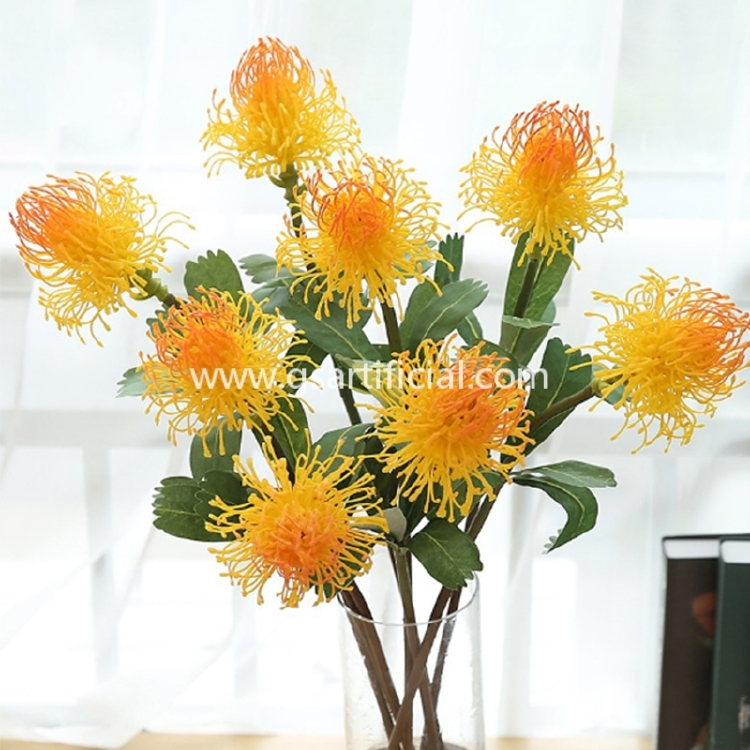 high simulation silk pin pad flower for home decoration