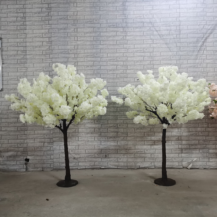 plastic Cherry Blossom tree centerpieces for wedding table