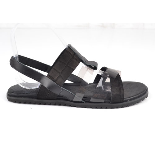 genuine leather flat sandals china factory