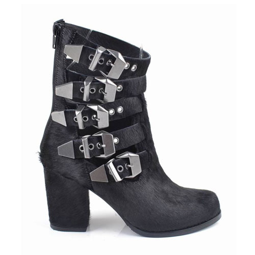 leather buckle ankle boots shoes supplier in china