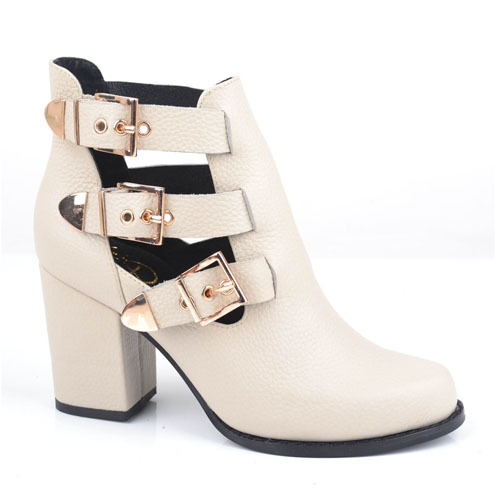 leather buckle ankle boots shoes manufacturer