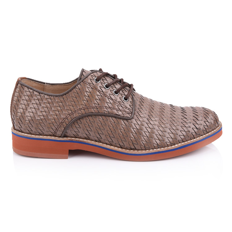 mens woven leather oxford shoes factory in china