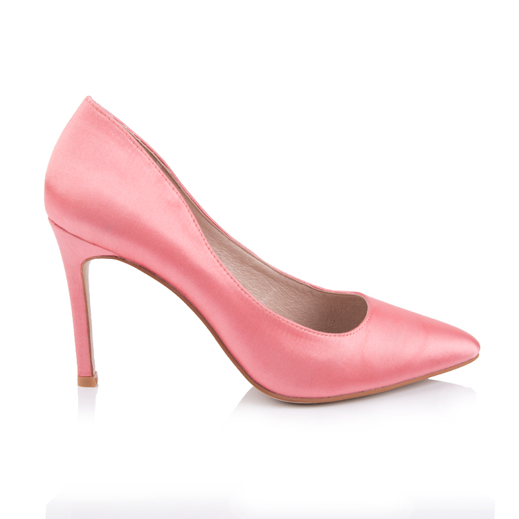 satin pointed toe pump women shoe manufacturers