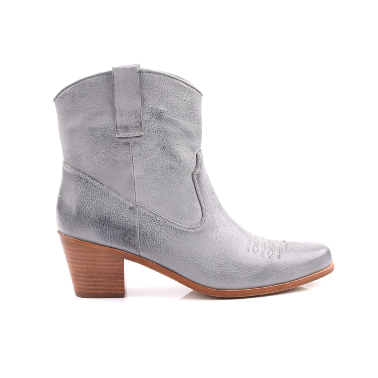 Low Heels Fashion Ladies Leather Ankle Boots shoes factory