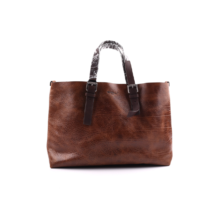 Glamorous tan big women leather tote bag manufacture
