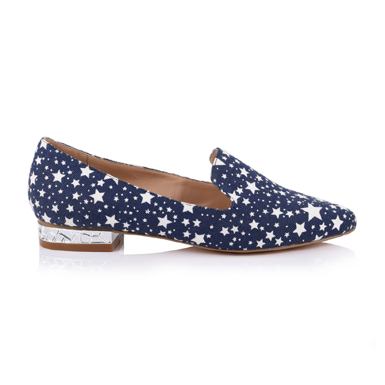 fabric point-toe women flat shoes manufacturers in china