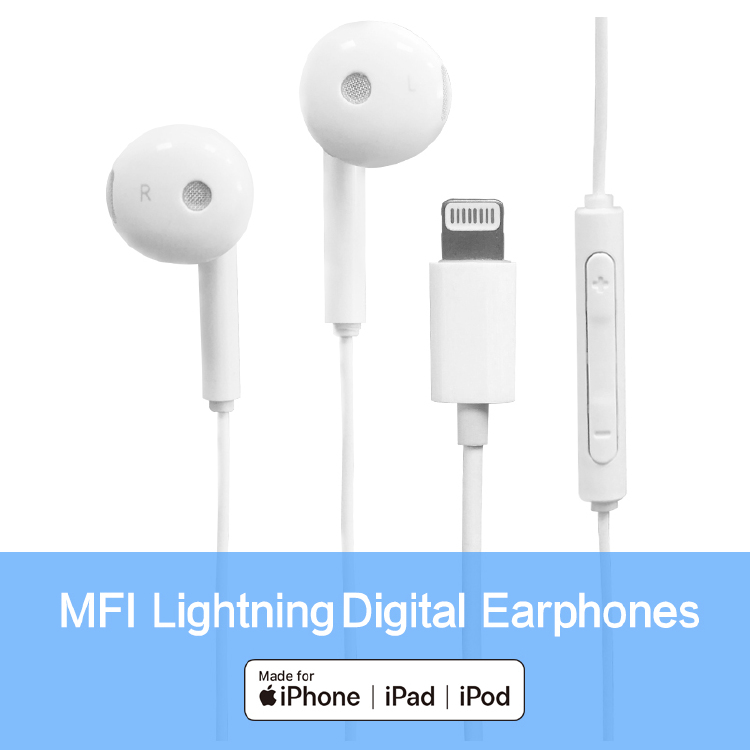 Amazon  hot-sell good quality MFi stereo headphones for iPho