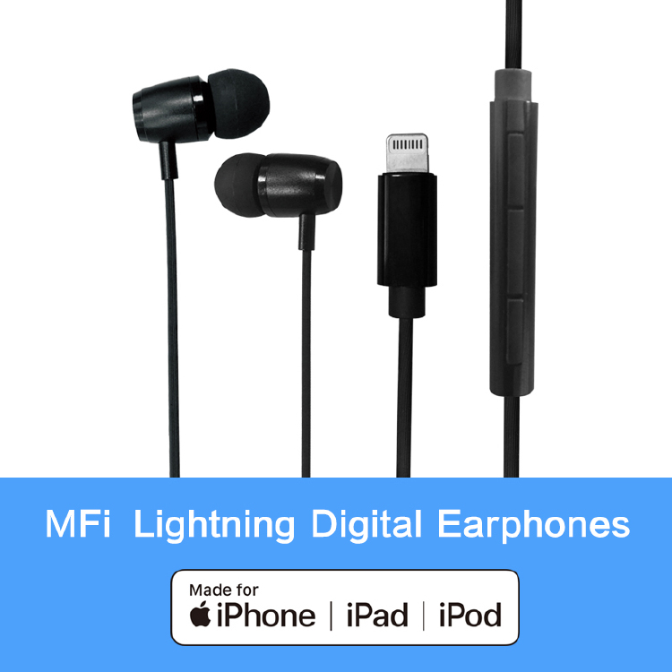 In-ear Apple MFi certified digital earphones Compatiable for