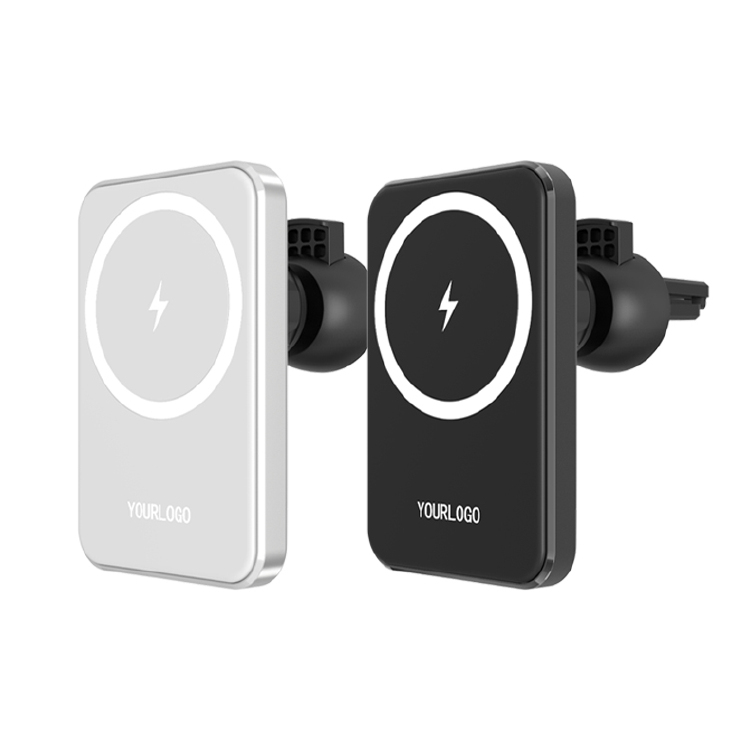 Square iPhone Rotatable Magnetic Wireless Car Charger Fast C