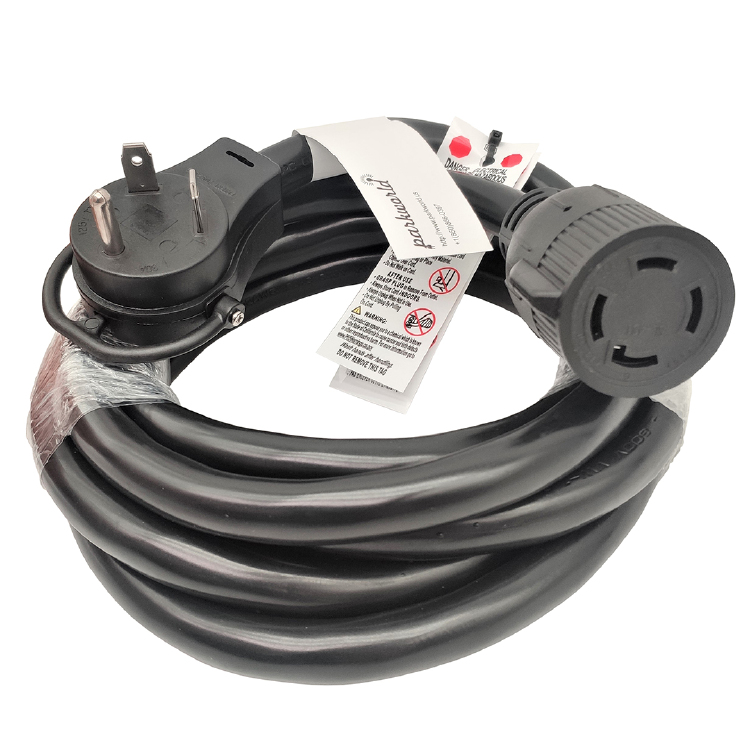 NEMA TT-30P to L14-30R Extension Cord 10 Feet