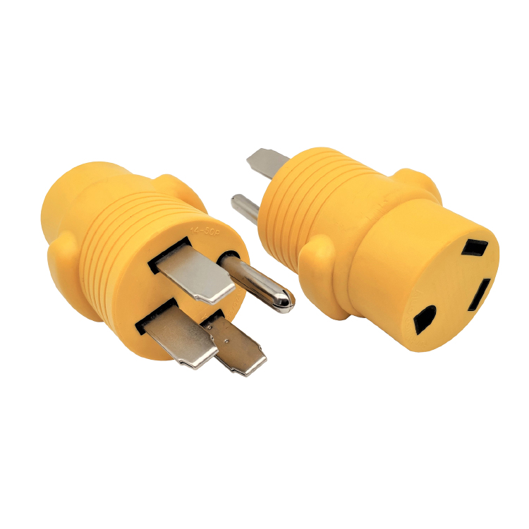 RV 50A to 30A Adapter (Yellow)