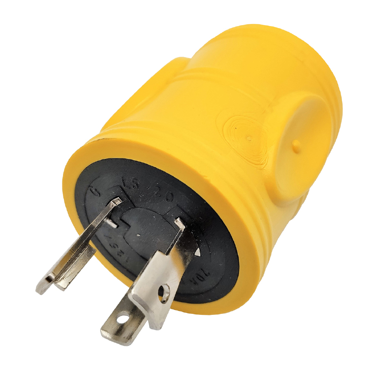 NEMA L5-20P to TT-30R Yellow