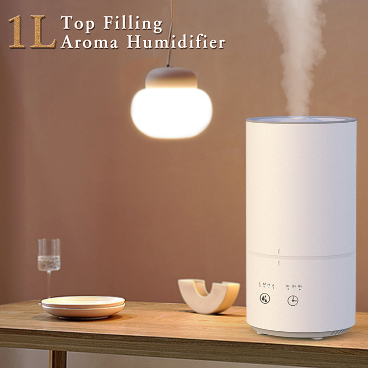 2020 New 1L Top Filling Ultrasonic Air Aroma Humidifier