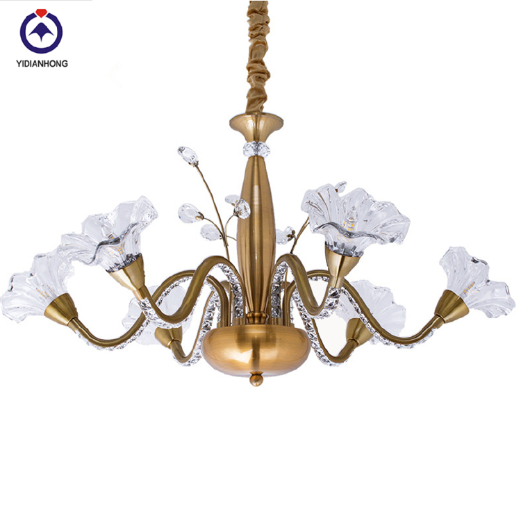 60cm copper chandelier light for home