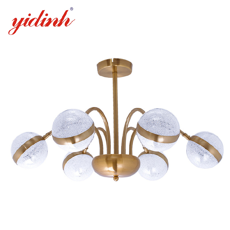 chandelier -copper colour 6 heads ring ball shade chandelier