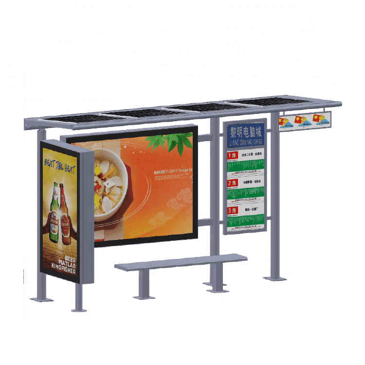 Solar metal bus stop factory A009