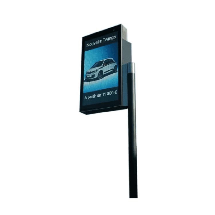LED lamp post advertising billboard sign lamp pole light box