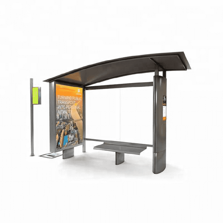 Advertising Display Metal Light Box Bus Station Shelter A029