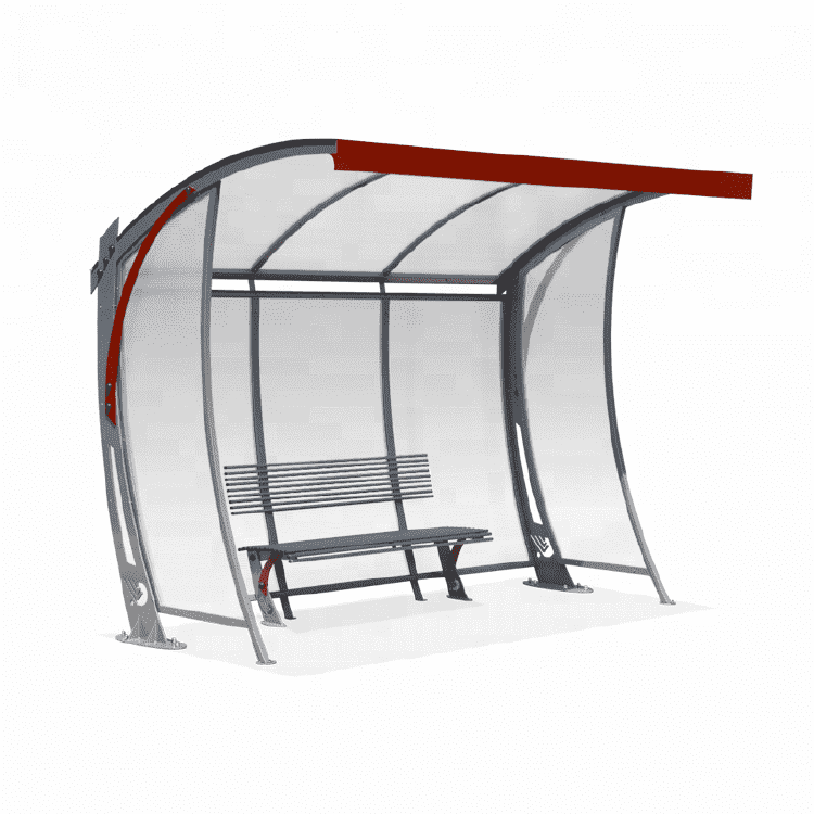 high quality modern bus station shelter