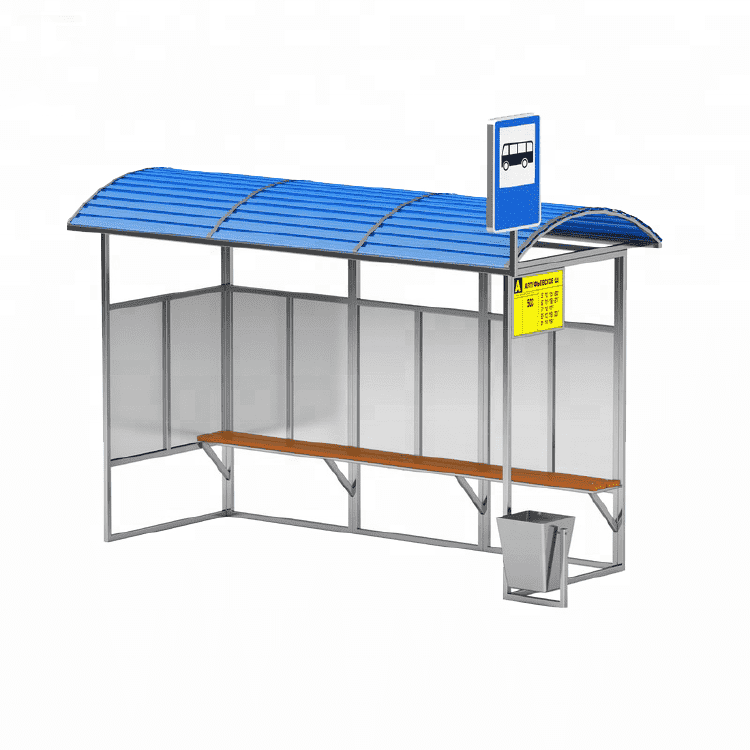 Customized modern bus stop shelters design