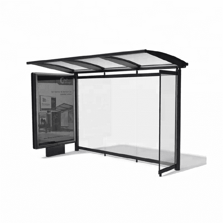 High quality bus stop shelters kiosk dimensions for sale