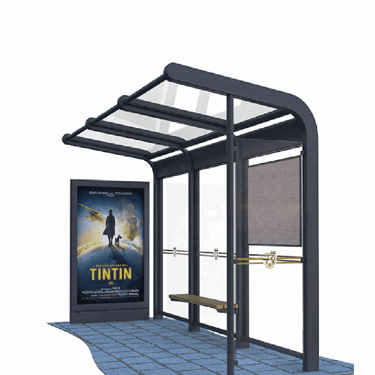 Advertising light box bus stop shelter station A038