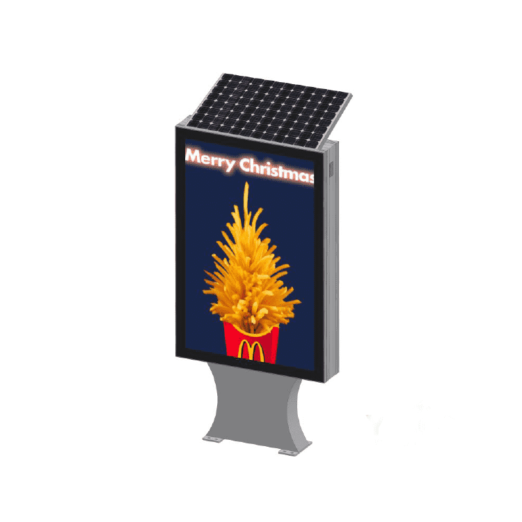 Outdoor street advertising solar floor standing light box D0