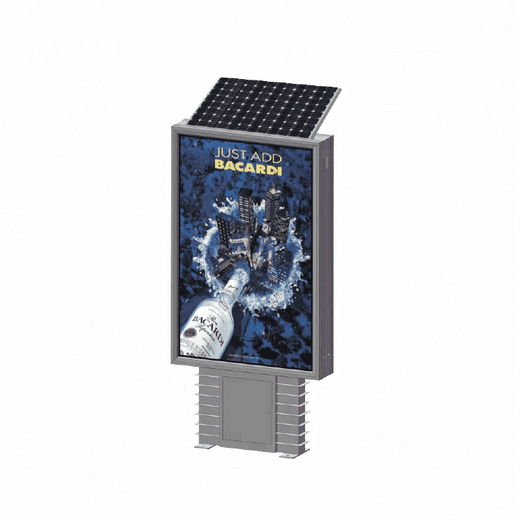Lamp post solar advertising display light box D012