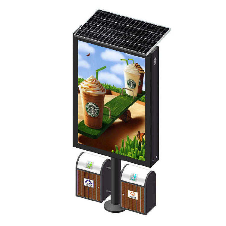 Solar Power Urban Design Advertising Garbage Light Box G014
