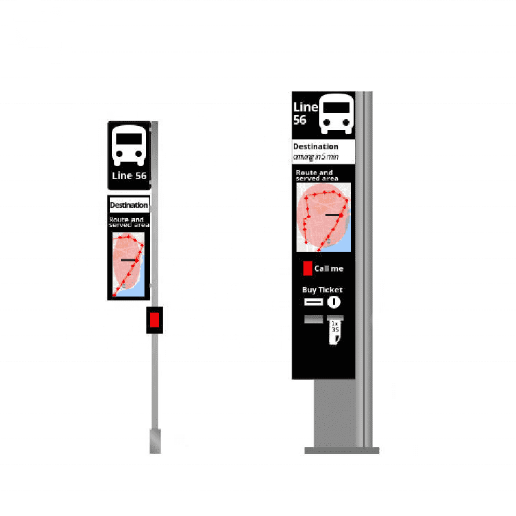 Digital bus shelter route signe avant display board with dir