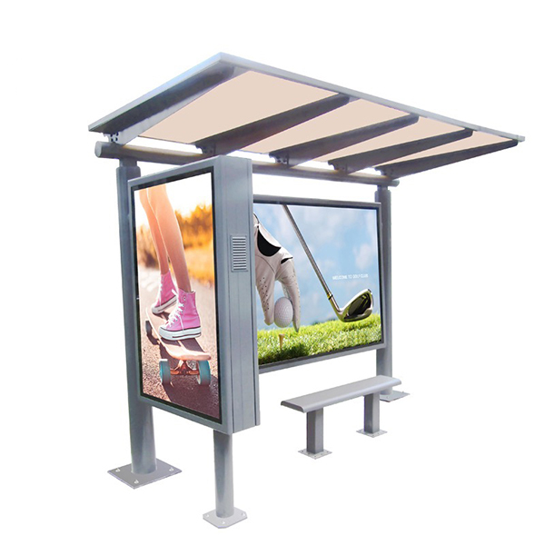 Modern Metal Bus Stop Shelter