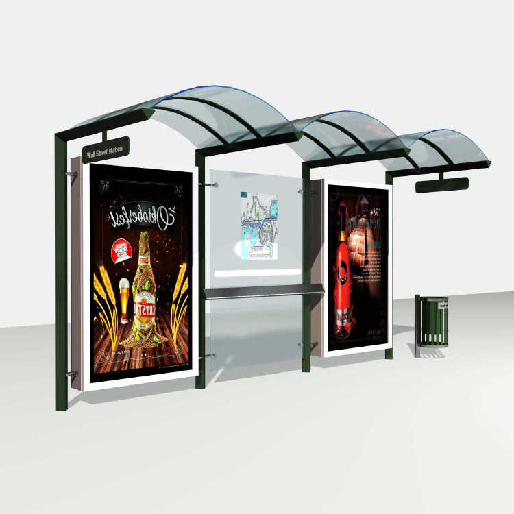 Popular Stainless Structure Advertising Bus Shelter