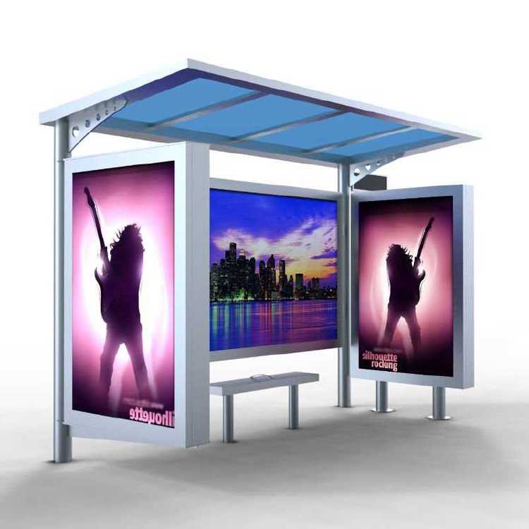 High quality advertising bus stop shelters dimensions for sa