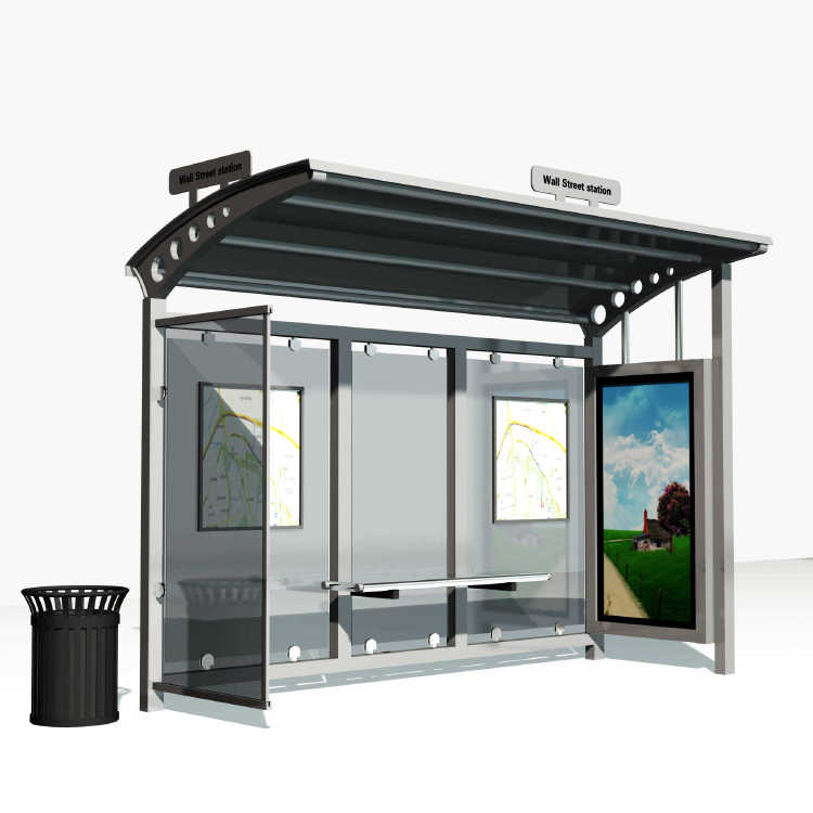 High Quality Advertising Bus Station Shelters For Sale A012