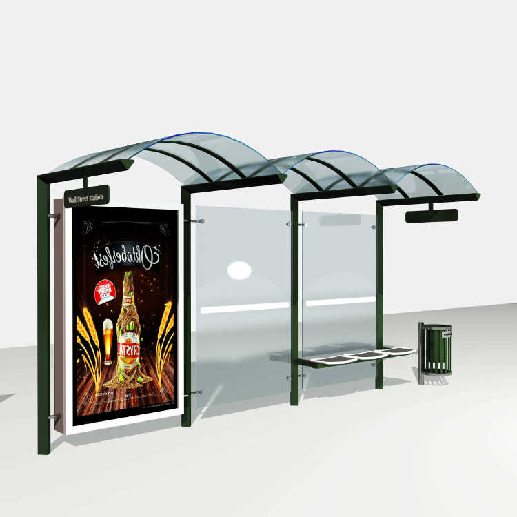 Outdoor Furniture Bus Station Shelter Design Double-sided Li