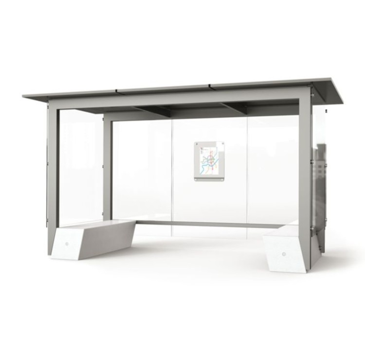 outdoor custom-made design metal bus stop shelter A054