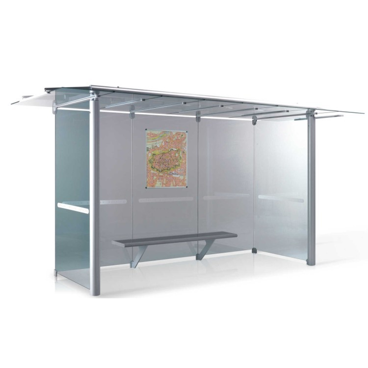 Bus Stop Shelter Glass Equipment Dimension A045