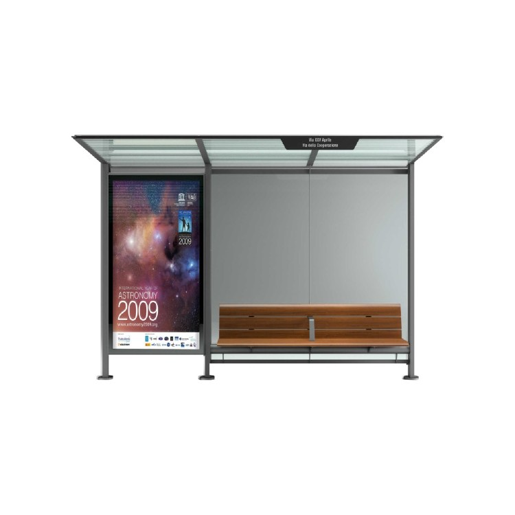 Outdoor advertising light box metal bus shelter A053