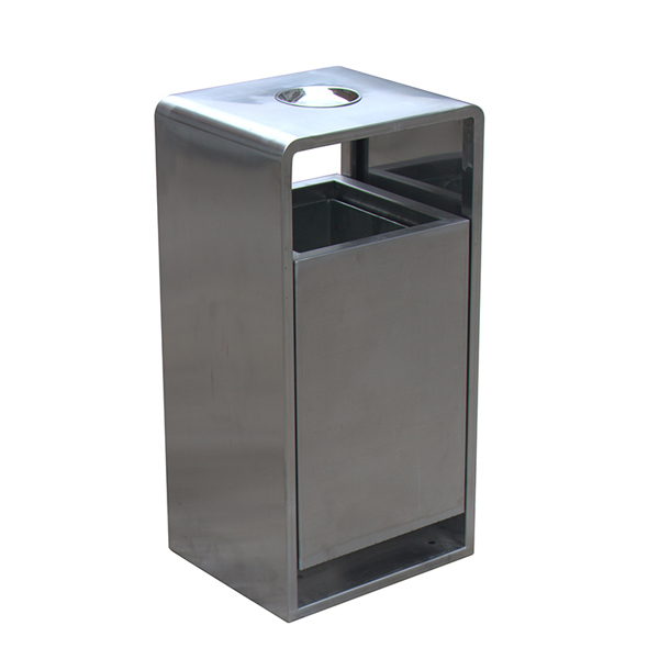 outdoor stainless steel decorative trash receptacles H003g