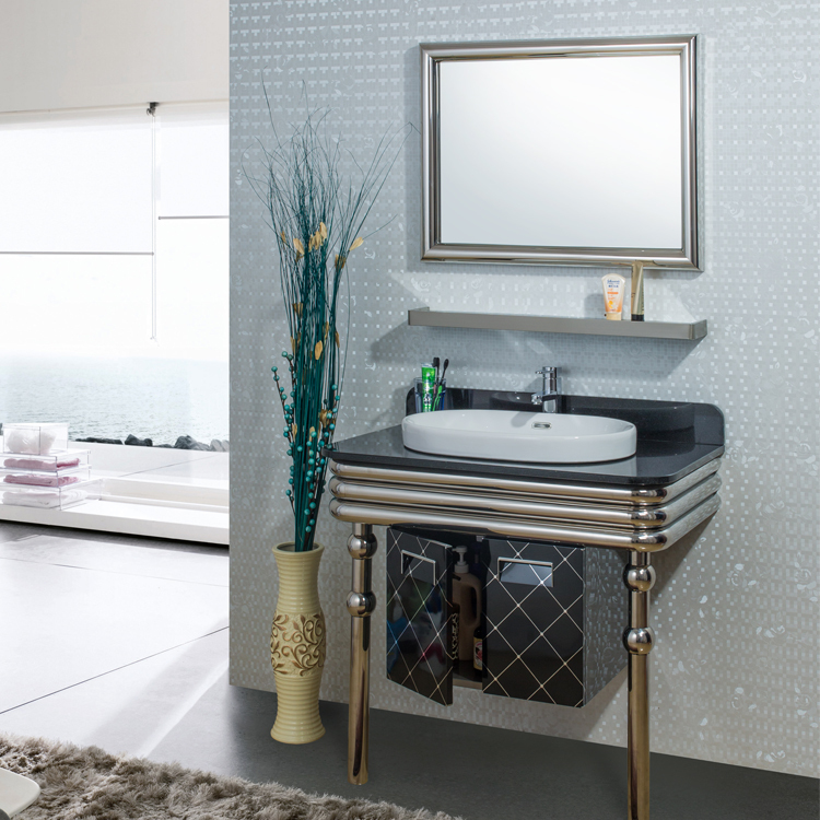 Stainless Steel Bathroom Vanity Combo