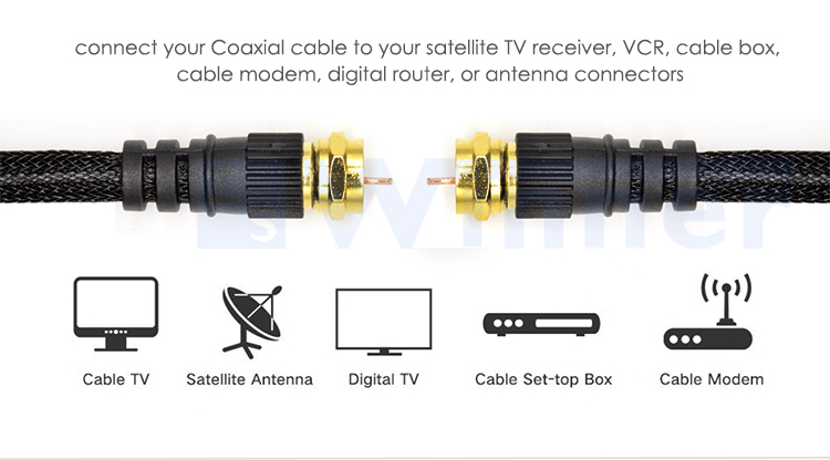 Digital Coaxial Audio Video Cable,Satellite Cable Connectors, Coax ...