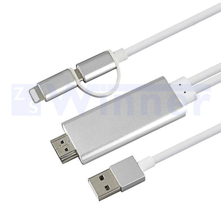 MHL USB to HDMI Cable 4K,MHL USB to HDMI media adapter