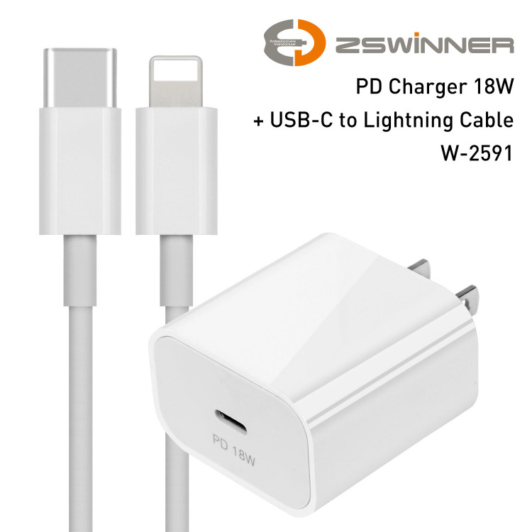 PD Charger 18W USB Type C Fast Charger for iPhone 11