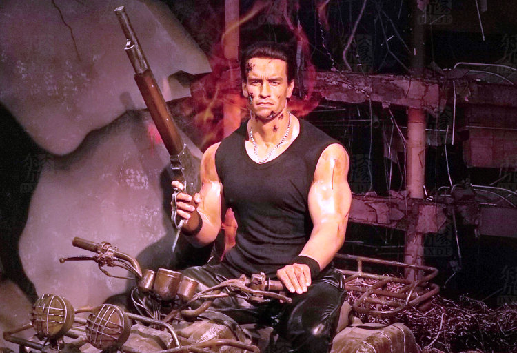 Movie Actor Wax Figure Arnold Schwarzenegger For Sale
