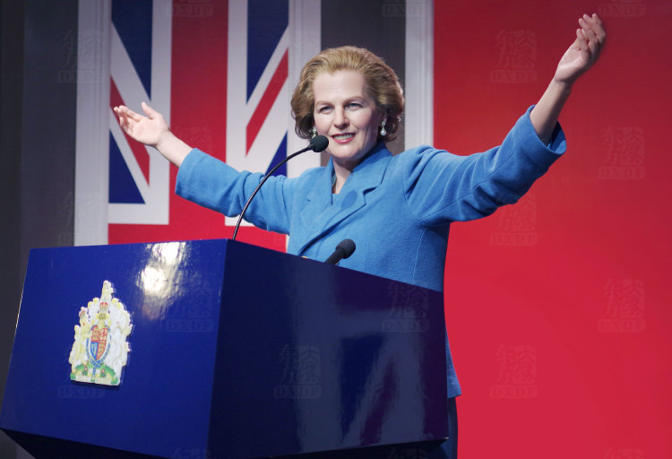 Iron Lady Margaret Thatcher Wax Figure in museum