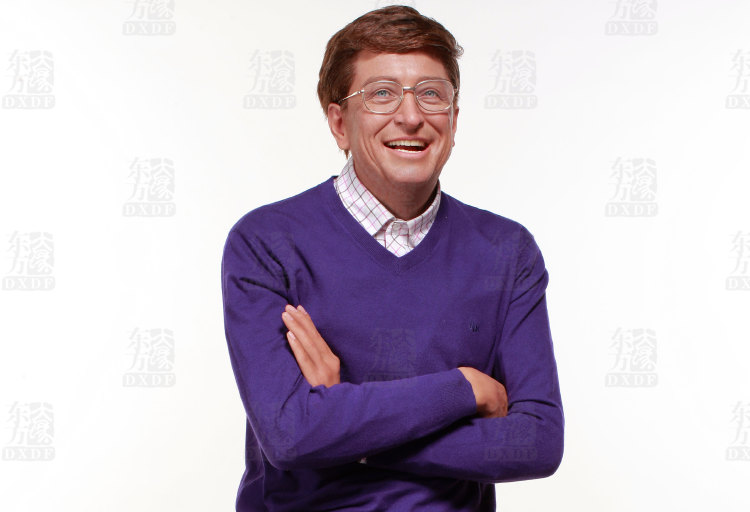 Wax Figure of Bill Gates at Wax Museum
