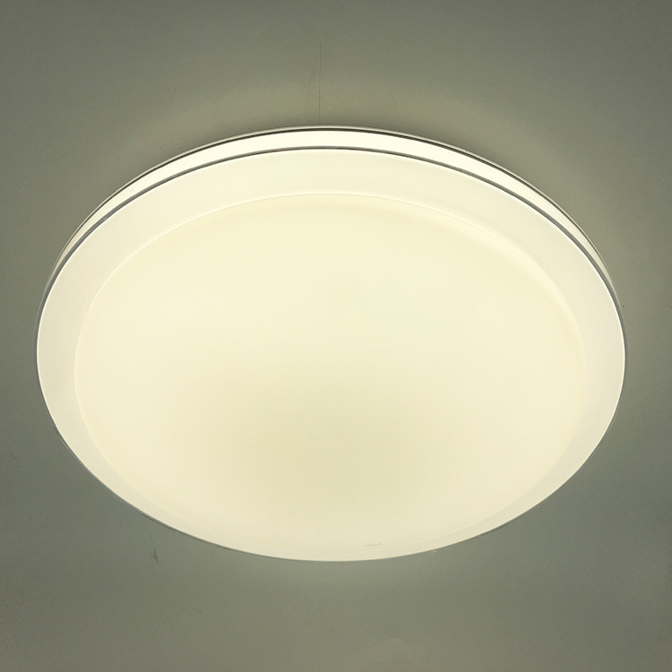 Round simple transparent frame LED ceiling light bedroom liv