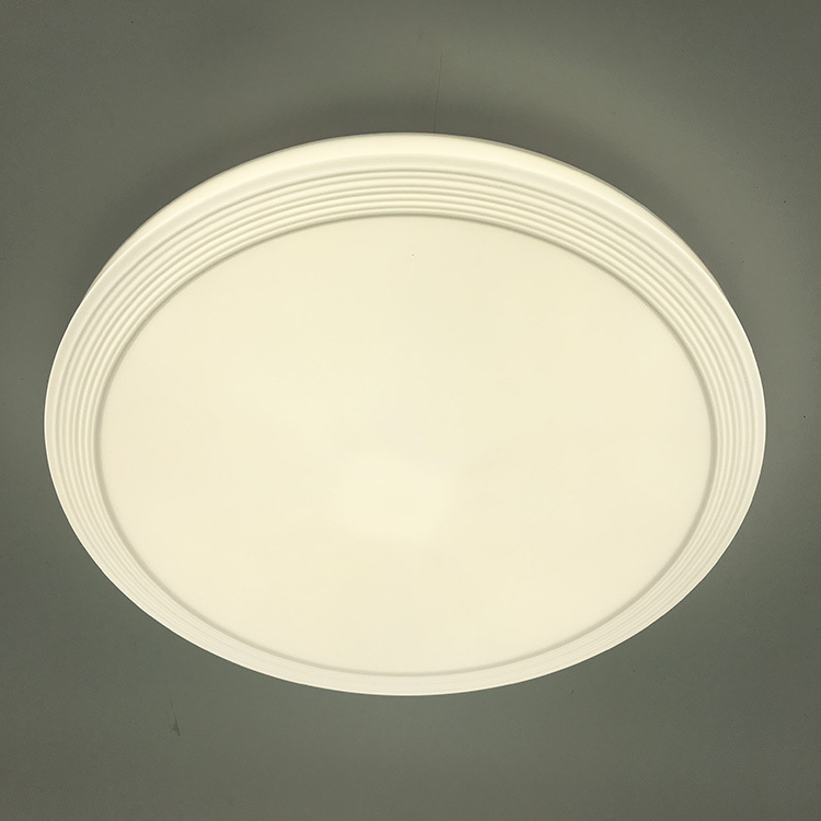 Plafonnier LED simple décoration blanche cuisine escaliers p
