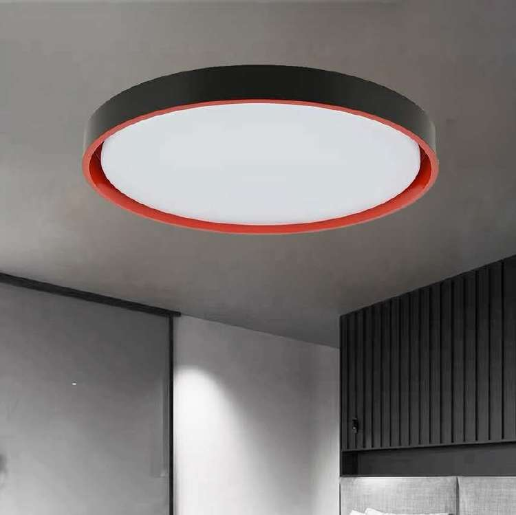 Color contrast design simple LED acrylic ceiling light